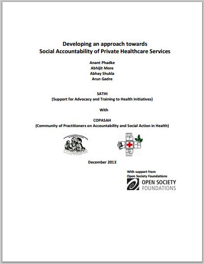 Developing an approach towards Social Accountability of Private Healthcare Services