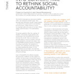 Putting Things into Context. Time to Re-Think Social Accountability