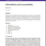 Infomediaries and accountability