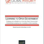 Learning to open government: Findings and reflections on how the Open Government Partnership is playing out, in practice, in five countries